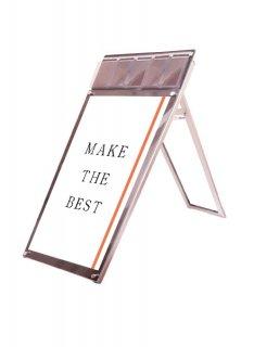 ポスター用スタンド看板パンフレットケース付 A1ロウ片面ブラック(屋内用)