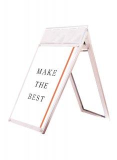 ポスター用スタンド看板パンフレットケース付 A1ロウ両面ホワイト(屋内用)