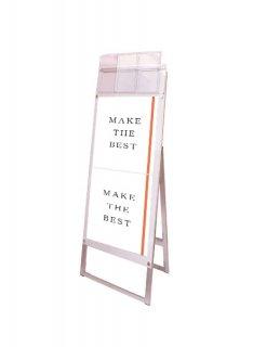 ポスター用スタンド看板パンフレットケース付 A3縦縦片面ホワイト(屋外用)