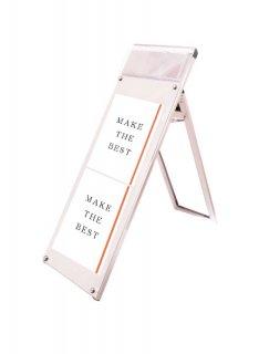 ポスター用スタンド看板パンフレットケース付 A3縦縦ロウ片面ホワイト(屋内用)