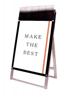 ポスター用スタンド看板マグネジ パンフレットケース付 A1片面ブラック(屋外用)