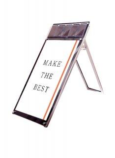 ポスター用スタンド看板マグネジ パンフレットケース付 A1ロウ片面ブラック(屋内用)