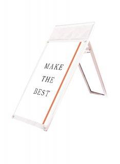 ポスター用スタンド看板マグネジ パンフレットケース付 A1ロウ片面ホワイト(屋内用)