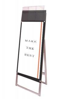 ポスター用スタンド看板マグネジ パンフレットケース付 A3縦縦片面ブラック(屋外用)