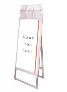 ポスター用スタンド看板マグネジ パンフレットケース付 A3縦縦片面ホワイト(屋外用)