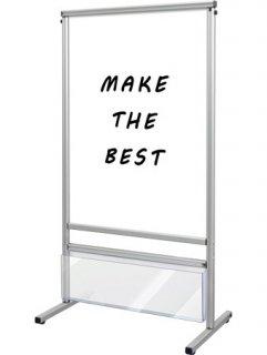 スマートメッセージスタンドホワイトボードカタログケース付 A1