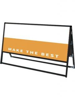 ブラックバリウススタンド看板 アルミ複合板 1200×600両面