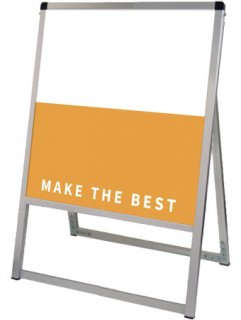 バリウススタンド看板 アルミ複合板 450×450片面