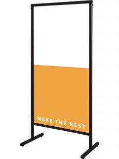 ブラックスマートメッセージスタンドアルミ複合板600X1200