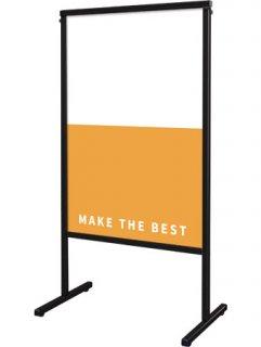 ブラックスマートメッセージスタンドアルミ複合板600X900