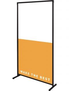 ブラックスマートメッセージスタンドアルミ複合板900X1800