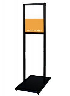 ブラックバリウスメッセージスタンド アルミ複合板 A4縦