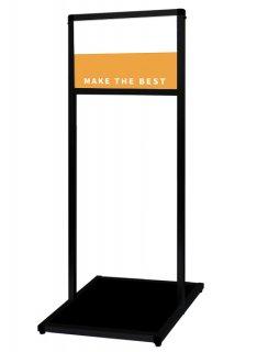 ブラックバリウスメッセージスタンド アルミ複合板 A4横