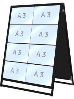 ブラックバリウスカードケーススタンド看板 A3横16両面