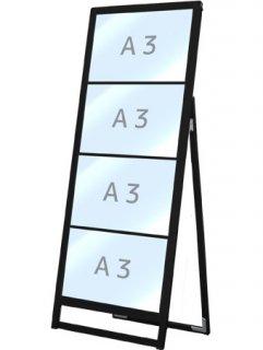 ブラックバリウスカードケーススタンド看板 A3横4片面