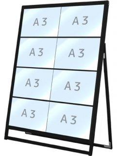 ブラックバリウスカードケーススタンド看板 A3横8片面