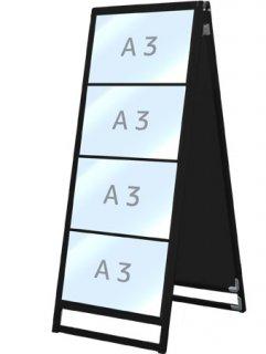 ブラックバリウスカードケーススタンド看板 A3横8両面
