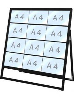 ブラックバリウスカードケーススタンド看板 A4横12片面