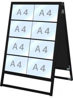 ブラックバリウスカードケーススタンド看板 A4横16両面