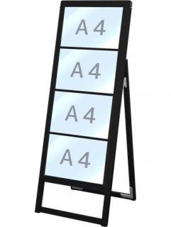 ブラックバリウスカードケーススタンド看板 A4横4片面
