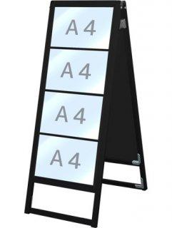 ブラックバリウスカードケーススタンド看板 A4横8両面