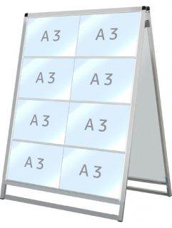 バリウスカードケーススタンド看板 A3横16両面
