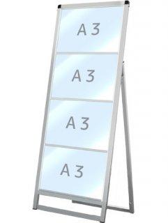 バリウスカードケーススタンド看板 A3横4片面