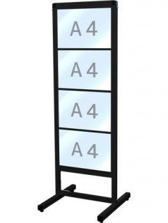 ブラックバリウスカードケースメッセージスタンド A4横4片面