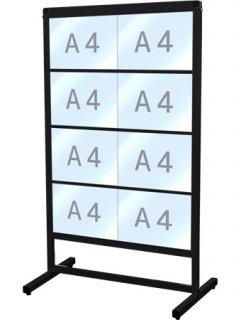 ブラックバリウスカードケースメッセージスタンド A4横8片面