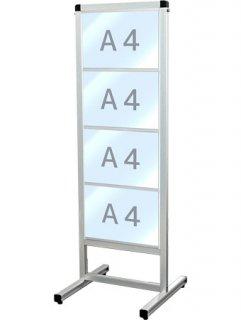 バリウスカードケースメッセージスタンド A4横4片面