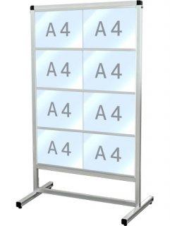 バリウスカードケースメッセージスタンド A4横8片面