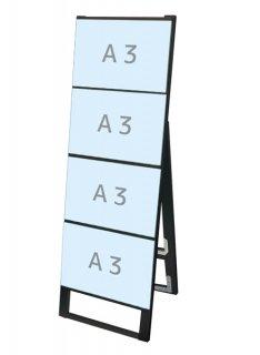 ブラックカードケーススタンド看板 A3横4片面