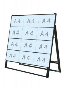 ブラックカードケーススタンド看板 A4横12片面