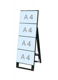 ブラックカードケーススタンド看板 A4横4片面