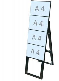 ブラックカードケーススタンド看板 A4横4片面ハイ