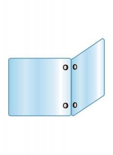 アクリルパーテーション二面 600×600×600
