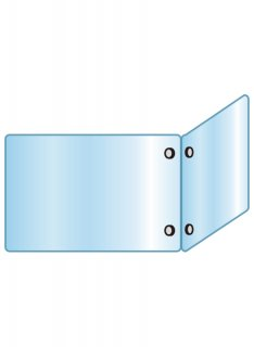 アクリルパーテーション二面 600×900×600