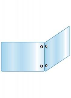 アクリルパーテーション二面 600×900×900