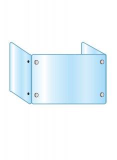 アクリルパーテーション三面 600×900×450