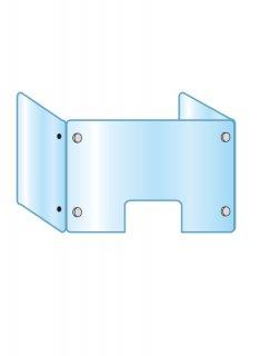 アクリルパーテーション三面窓付 600×900×450