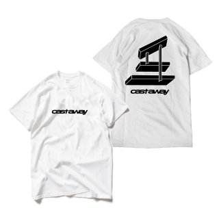Castaway / Abstract Tee(White)