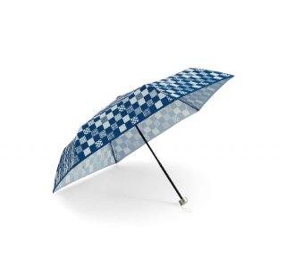 京都くろちく・晴雨兼用折傘(小紋市松)