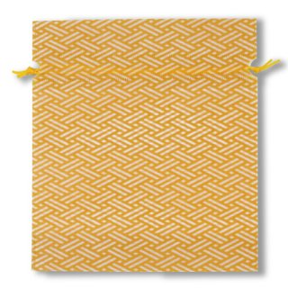 不織布和風柄巾着檜垣柄