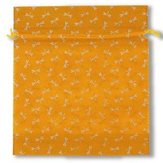 不織布和風柄巾着蜻蛉柄