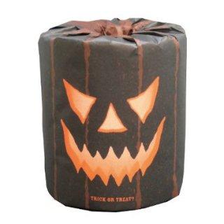 ハロウィン黒おばけ1ロール トイレットペーパー