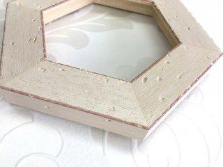 額縁DIYキット/8角形/小サイズ/ホワイト/AM3084-W