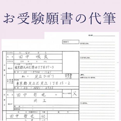 お受験願書(本文500文字)