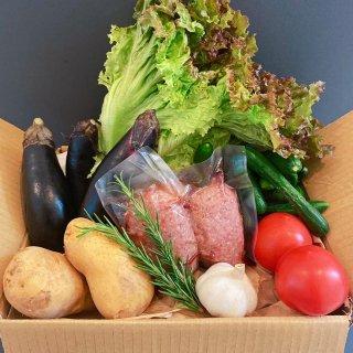 ★千葉行動 開催記念★【野菜と肉BOX】焼くだけハンバーグ!お肉と夏野菜セット!