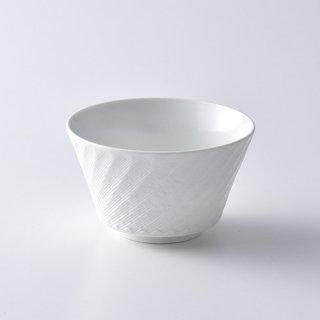 砂紋ボウル・小(白)10.8×6.5cm