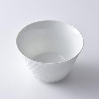 砂紋ボウル・中(白)12.5×7.5cm